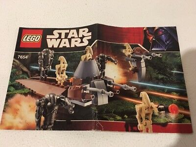 New Lego Instruction Manual Only From Set 7654 Droids Battle Pack