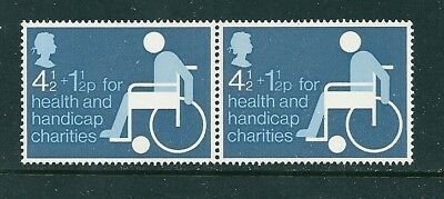 1975 - GB Health & Handicap Stamp in Pair MNH SG970