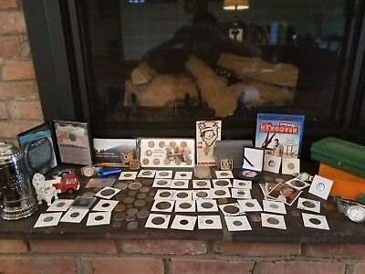 Junk Drawer Lot Vintage Coins And Much More!!