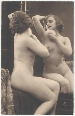 1920 French NUDE Photograph - Blonde Beauty by J. Mandel