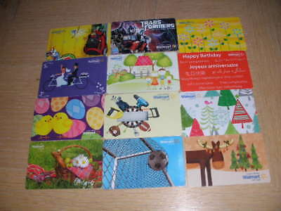 Canada Walmart   12 different new collectible gift cards