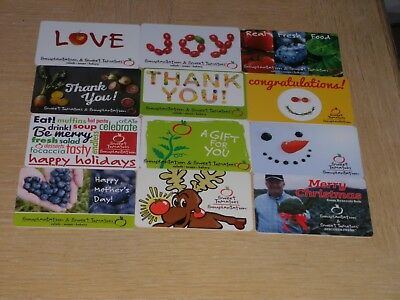 Sweet Tomatoes   12 different new collectible gift cards