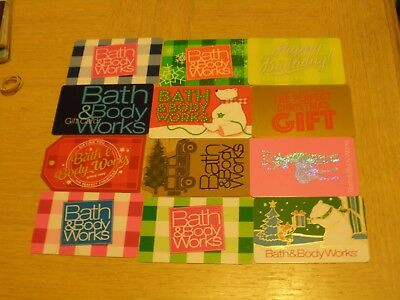 Bath & Body Works   12 different new collectible gift cards