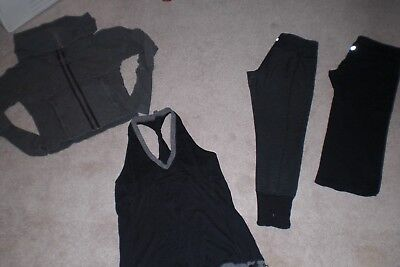 Lot of 2 Lululemon Crops, Rare Corset Jacket and Tank  sz 6