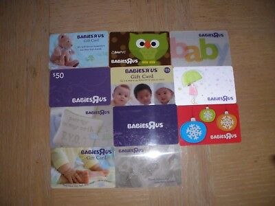 Babies R Us    11 different new collectible gift cards