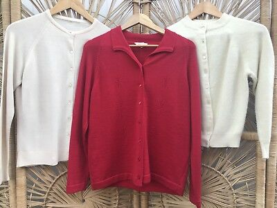 CLOSING DOWN SALE!!!!  Lot of 3 x 1960's Vintage Knit Cardigans Lot #73