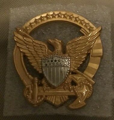USCG United States Coast Guard Command Insignia Badge Pin No Reserve Vintage
