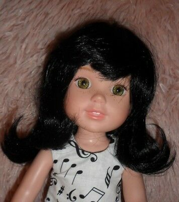 Nice New Size 10 Black Wig for Wellie Wishers Dolls & Others Her Size