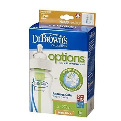 Dr Brown's Options Wide Neck (270 ml, Pack of 2) New and Boxed