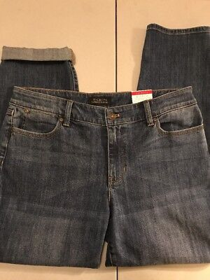 Talbots Flawless Five Pocket Jeans/denim Boyfriend Fit Striaght Leg Size 12