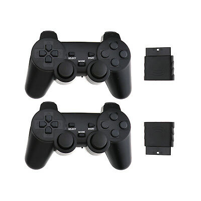 2 x Wireless Dual Controllers For PS2 Joypad Gamepad Consoles With Receiver