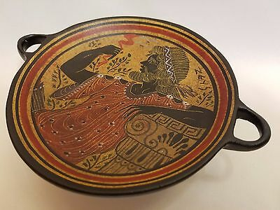Zeus Greek God Rare Hellenic Ancient Art Pottery Tray Aged Kylix