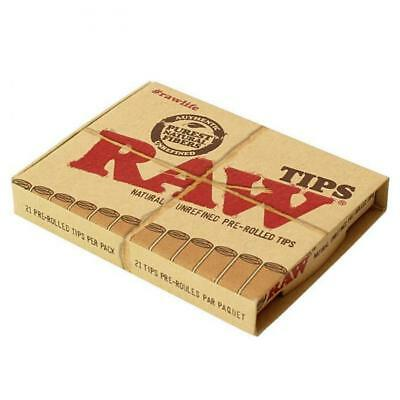 2 x Raw Natural Unrefined Pre-Rolled Tips 21 Per Pack Pure Natural Fibres