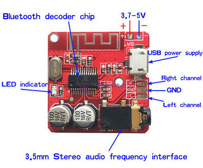 3.7V-5V Mini Bluetooth 4.1 MP3 Decoder Audio Receiver Lossless Amplifier Module