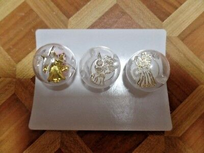 "Vintage Gumball Machine Prize ""Angel Rings"" Incl Guarding Gold Color Ring (VGM02"