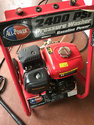 All Power Model 5117 2400 PSI Gas Powered Pressure Washer