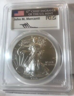 2016-W Pcgs Sp70 Burnished American Silver Eagle Fdoi Le Low Pop 30 Anniversary