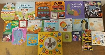 Lot of 22 Board Toddler Hardcover Picture DayCare Kid Child Books - UNSORTED A37