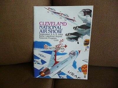 1983 Cleveland National Air Show Program magazine