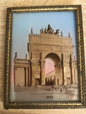1915 PPIE 1915 EXPOSITION Reverse Glass Framed Souvenir!