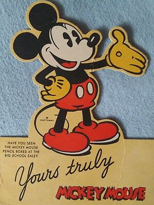 vintage antique 1930's Disney mickey mouse Dixon pencil store sign