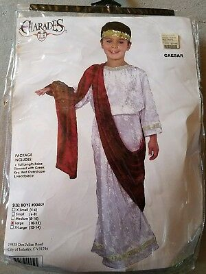 O NEW Child Charades Caesar Halloween Costume Size L