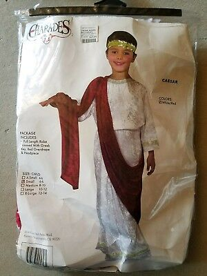 O NEW Child Charades Caesar Halloween Costume Size S