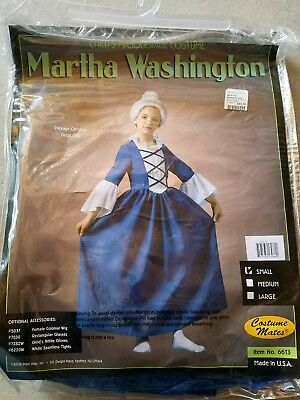O NEW Child Costume Mates Martha Washington  Halloween Costume Size S