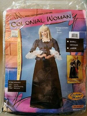 O NEW Adult Costume Mates Colonial Woman Masquerade Halloween Costume Size M