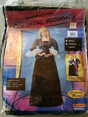 O NEW Adult Costume Mates Colonial Woman Masquerade Halloween Costume Size L