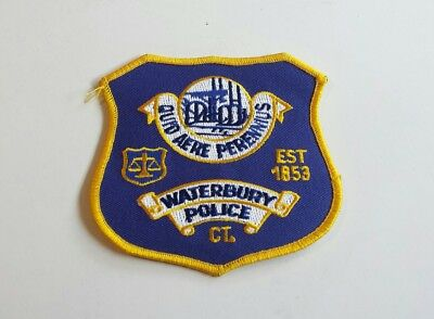 Waterbury Connecticut Police Shoulder Patch