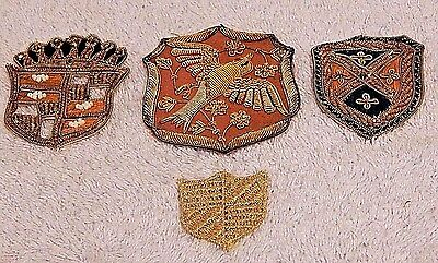 Rare Vintage Gold & Silver Metal Wire Embroidered Patches from India