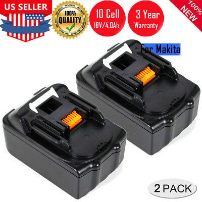 2 X 4.0Ah 18V Lithium ion Battery For Makita BL1860 BL1840 BL1830 BL1815 LXT400
