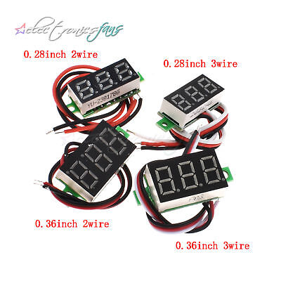 "0.28"" DC 100V/2.5-30V LED 3-bits Digital Display Voltage Voltmeter Panel Meter"