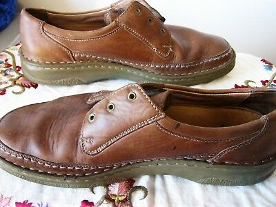 80S ALL LEATHER TAN USED MENS 'SIOUX' SHOES last forever. sz 9.