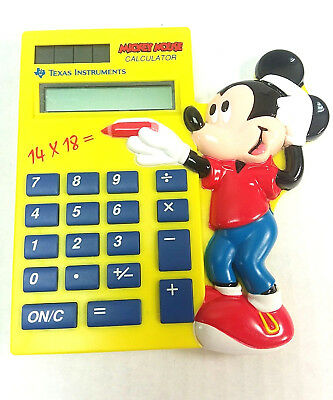 Vintage MICKEY MOUSE Collectible Calculator Texas Instruments 1993 DISNEY