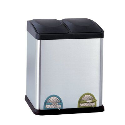Organize It All Dual Compartment StepOn 8Gallon (30 liter) Recycling Trash Can,