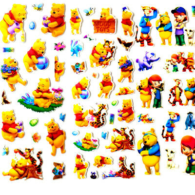 3 Sheets 3D PVC Cute Bear Stereoscopic PVC Puffy Stickers Crafts Toys Value gift