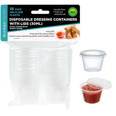 30ML Plastic Dressing Dipping Sauce Disposable Small Container Cup Lids Takeaway