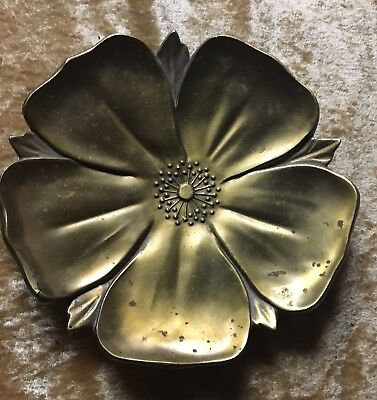 Signed Bronze Tray Or Dish, Arts & Crafts Style , Possibly Roycroft Era