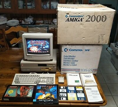 Commodore Amiga 2000 Bundle - 1084S-P1 CRT Monitor, Keyboard Mouse Games + More!