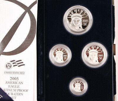 2005 Proof Platinum American Eagle 4 Coin Set with Box and Certificate