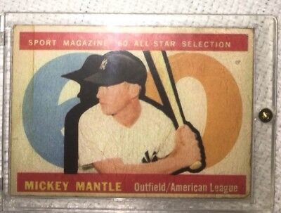 Old Mickey Mantle Card
