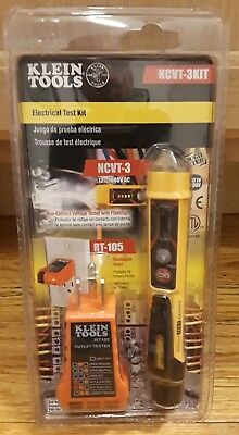 Ncvt-3 and rt-105 Electrical Test Kit with Flashlight, new non-contact voltage