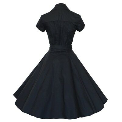 Hot Sale Vintage 50s 60s Rockabilly Hepburn Style Dress V-Neck Housewife Dresses