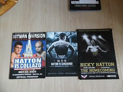 Collection Of 3 Ricky Hatton  Programmes