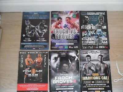 Collection Of 6 Carl Froch  Programmes