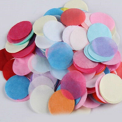 1Bags Mixed Colors Round Flame Retardant Tissue Paper Wedding Confetti Table