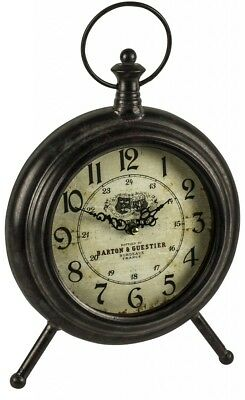 Harper Mantel Clock - Freestanding Retro Vintage Style Clock Wall hanging Clock
