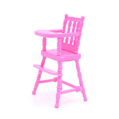 New Toy Doll Furniture Accessories Pink Plastic High Chair Dollhouse Decoration